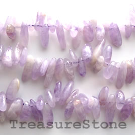 Bead, amethyst, 14 to 20mm top-drilled stick. 15.5-inch strand.