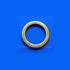 Bead, antiqued brass finished ring, 13mm. Pkg of 20.