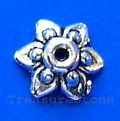 Bead cap, antiqued Silver Finished, 10mm. pkg of 20.